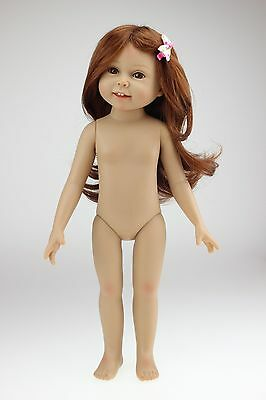 """18""""semi-soft vinyl fashion play doll NUDE baby girl education toy for girls Gift"""