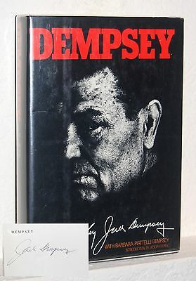 JACK DEMPSEY Signed DEMPSEY First 1st Edition Autobiography Autographed