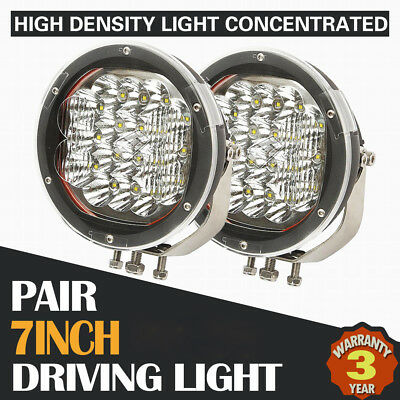 2x 7INCH 3600W CREE LED DRIVING LIGHT SPOT COMBO OFFROAD REPLACE HID JEEP TRUCK