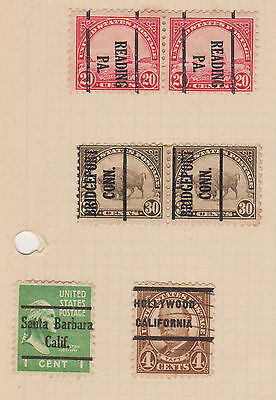 (USE15) 1908-22 USA 42mix of pre canceled stamps 1c to 30c