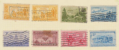 (USE40) 1950-4 USA 21mix of 3c stamps (B)