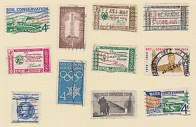 (USE44) 1960-61 USA 20mix of 4c stamps (A)