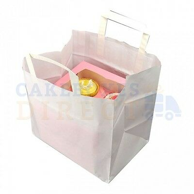 250 X CUPCAKE CARRIER BAG (4) 260 x 175 x 245mm FREE NEXT DAY DELIVERY*