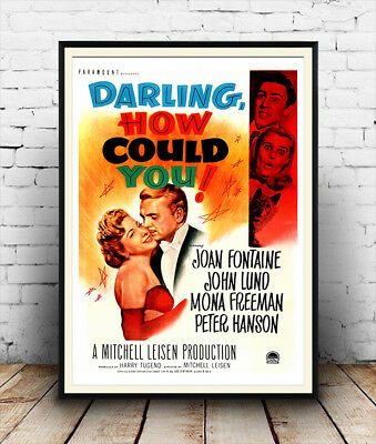Darling how could you, Vintage Movie advertising Reproduction poster, Wall art.