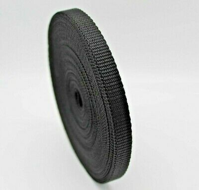 10mm Black nylon webbing Tape strapping x 10