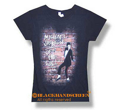 Michael Jackson (Off The Wall) Girlie Lady T-Shirt S