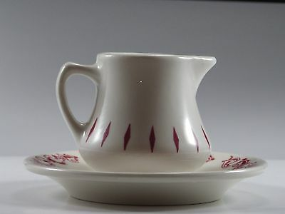 Homer Laughlin Restaurantware 1965 Creamer/Syrup White/Red Diamond W/BONUS