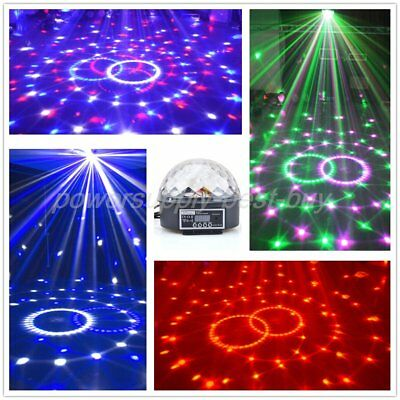 Music Active DMX512 Crystal Ball LED Stage Lighting Club Disco DJ Party Lights D