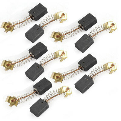 10 Pcs 5 x 8 x 11mm Power Tool Replacement Motor Carbon Brushes Black