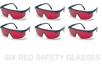 6 Pack of New Red Enhancement  Safety Glasses