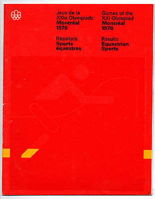 Official Results   Olympic Games MONTREAL 1976  -  EQUESTRIAN  !!  VERY RARE