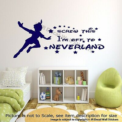 Off To Neverland Peter Pan Quotes Wall Stickers Disney