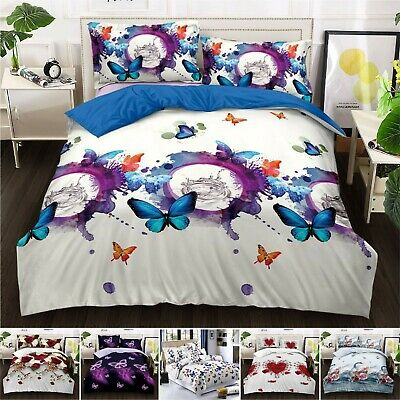 3D Effect 4 Pcs Duvet Covers With Fitted sheet  Bedding Set + 2 Pillow Case