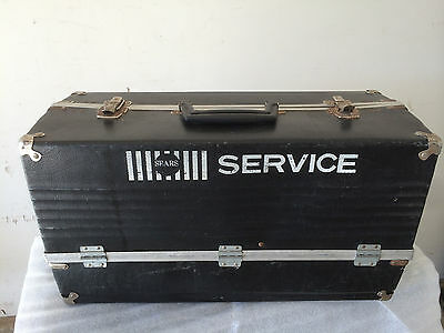 VINTAGE SEARS SERVICE UTILITY TOOL BOX WITH BIFOLD COMPARTMENTS / BLACK