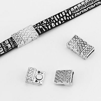 3/5Sets Antique Silver 10*2MM Magnetic Clasp For Use With 5mm 10mm Flat Leather