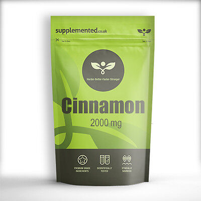 CINNAMON 2000mg TABLETS EXTRACT  Insulin Control ✔UK Made ✔Letterbox Friendly