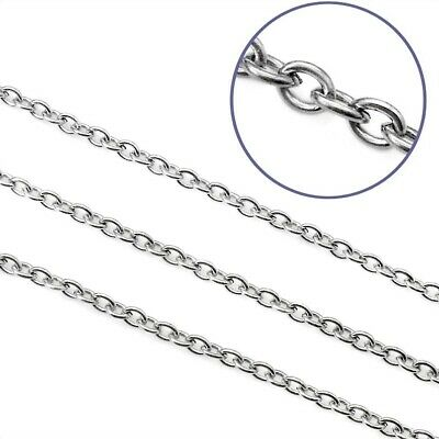 5m Stainless Steel Cable Chain - 5 Metres, 4mm x 3mm x 0.8mm Open Links