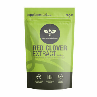 RED CLOVER EXTRACT 1000mg TABLETS MENOPAUSE ✔UK Made ✔Letterbox Friendly