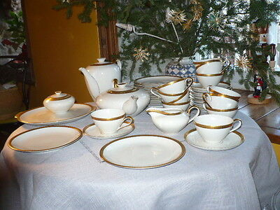 Crown R KPM Krister Germany Tea/Coffee/ Luncheon Set for 12