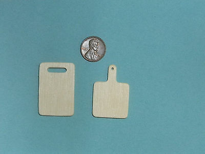 Dollhouse Miniature Kitchen Set of 2 Handcrafted Cutting Boards ~ K1504