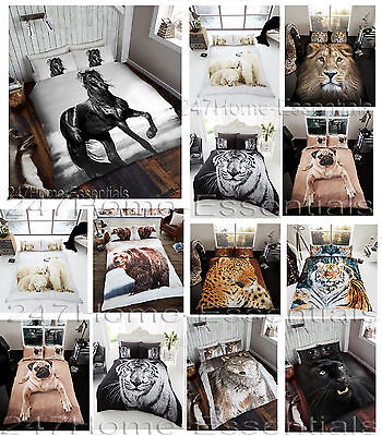 bed cover sets. 3D Animal Duvet Quilt Cover Bedding Set With Pillow Cases Single Double King Bed Sets