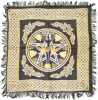 "Pentagram PENTACLE Goddess Altar Tarot Cloth 18"" x 18"" Wicca Pagan BEST PRICE !!"