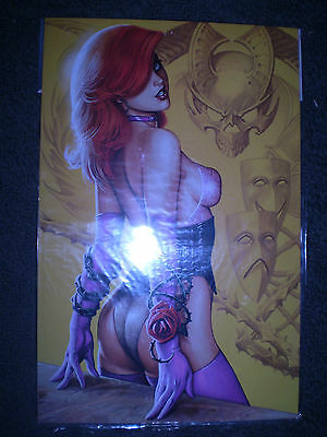 Linsner's Portable Dawn 16 x 10 Metal Comic Art Sign Poster New hot sexy redhead