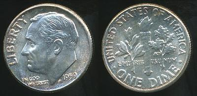 United States, 1959 Dime, Roosevelt (Silver) - Choice Uncirculated