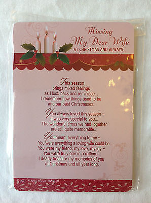 In Loving Memory - Family Graveyard Christmas Cards with Poem - 106mm x 148mm