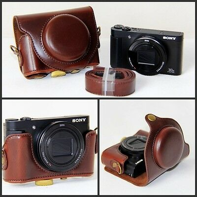 Coffee Leather Camera Case Bag For Sony DSC-RX100 IV, RX100 III RX100IV RX100III