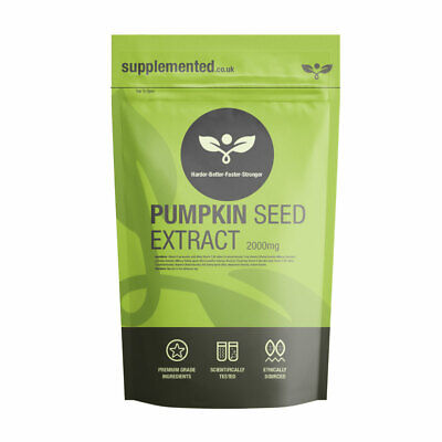 PUMPKIN SEED EXTRACT 2000mg CAPS Prostate Function ✔UK Made ✔Letterbox Friendly