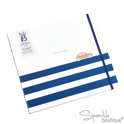 VEHICLE DOCUMENT FILE - Car Organiser/Folder/Filing Book/Document Storage/Gift