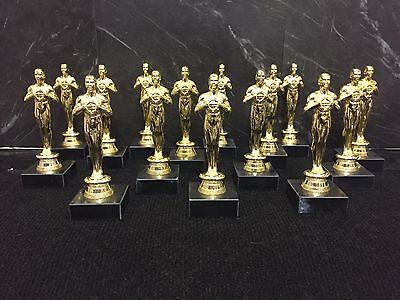 OSCAR STYLE TROPHY PROM NIGHTS OR SCHOOL AWARD AVAILABLE IN SILVER AND GOLD