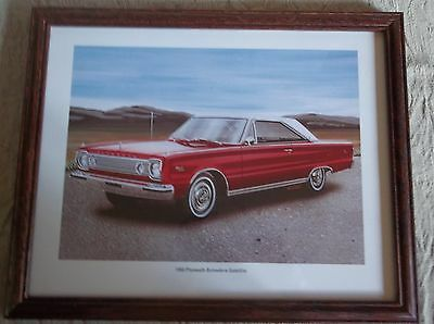 1966 Plymouth Belvedere Satellite Mopar Framed Picture
