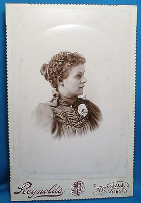 Young Woman Ruched Fabric Dress Photograph Cabinet Photo Reynolds Nevada Iowa IA