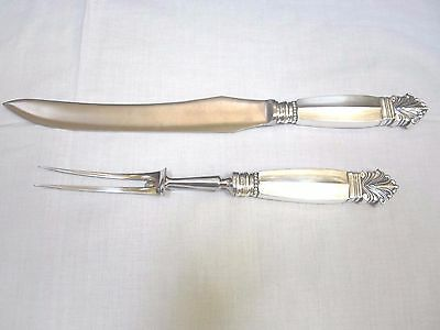 Georg Jensen Sterling Silver Acanthus Carving Set No Monogram