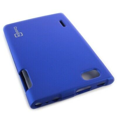 Blue Case For LG Optimus VU VS950 Hard Rubberized Snap On Phone Cover