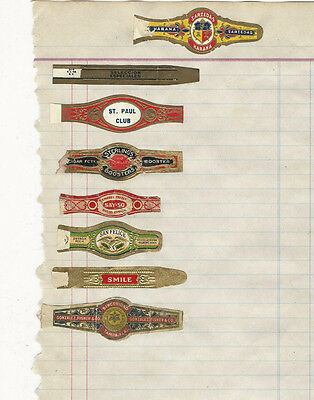 LOT # 27 1 PAGE OF VINTAGE CIGAR BANDS WITH VARIOUS ADVERTISING HABANA