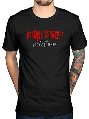Official The Sopranos New Jersey T-Shirt Walk Like A Man Made In America Kaisha