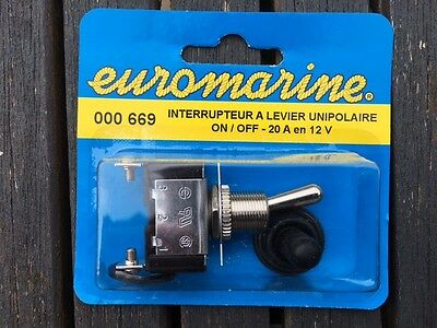 Interrupteur Etanche A Levier 20A On-Off  Euromarine 000669