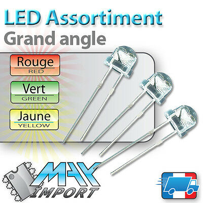 LED 5mm grand angle - Assortiment straw hat ( Compatible Arduino )