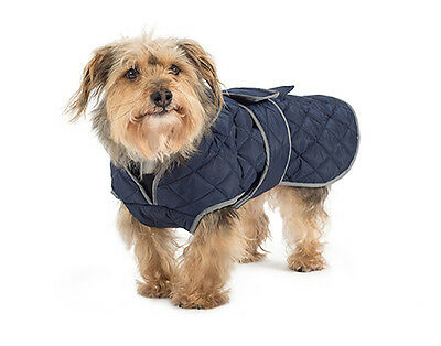 Ancol Muddy Paws Xtra Warmth Navy Quilted Dog Coat - All Sizes