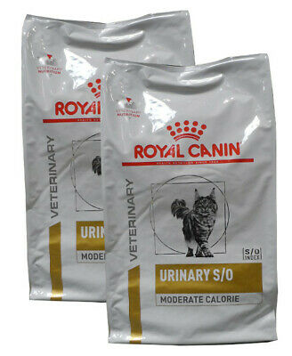 2x9kg Royal Canin Urinary S/O Moderate Calorie Gatto Diete Veterinarie