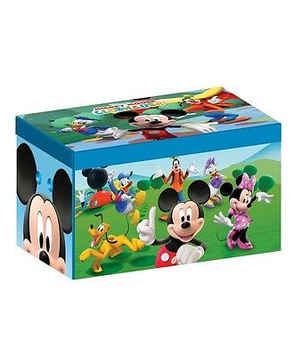 Toy Box Storage Disney Mickey Mouse Design Organiser Toys Books Kids Room New