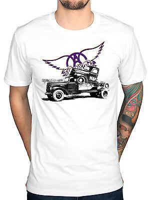 Official Aerosmith Pump T-Shirt Merch Get Your Wings Nine Lives Draw Band New