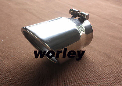 """3.3"""" inlet Round exhaust tip  rolled angle cut 4"""" outlet Stainless steel"""