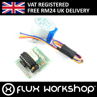 Stepper Motor 28BYJ-48 and ULN2033 Driver 3d Arduino Raspberry Flux Workshop