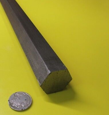 "1018 Carbon Steel Hex Rod 1 1/8"" Hex  x 3 Foot Length"