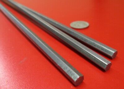 1018 Carbon Steel Hex Rod 6 mm Hex  x 3 Foot Length, 3 Units