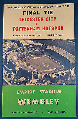 Leicester City v Tottenham Hotspur F A Cup Final Programme 1961